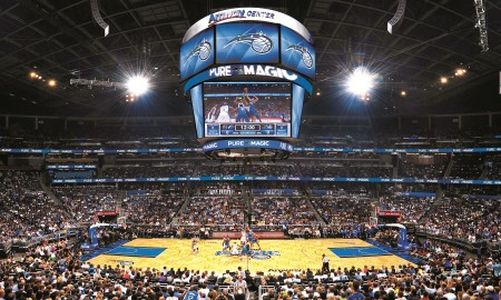 ORLANDO, FL - OCTOBER 28:  The Washington Wizards against the Orlando Magic on October 28, 2010 at Amway Center in Orlando, Florida. NOTE TO USER: User expressly acknowledges and agrees that, by downloading and or using this photograph, User is consenting to the terms and conditions of the Getty Images License Agreement. Mandatory Copyright Notice: Copyright 2010 NBAE  (Photo by Fernando Medina/NBAE via Getty Images) *** Local Caption ***