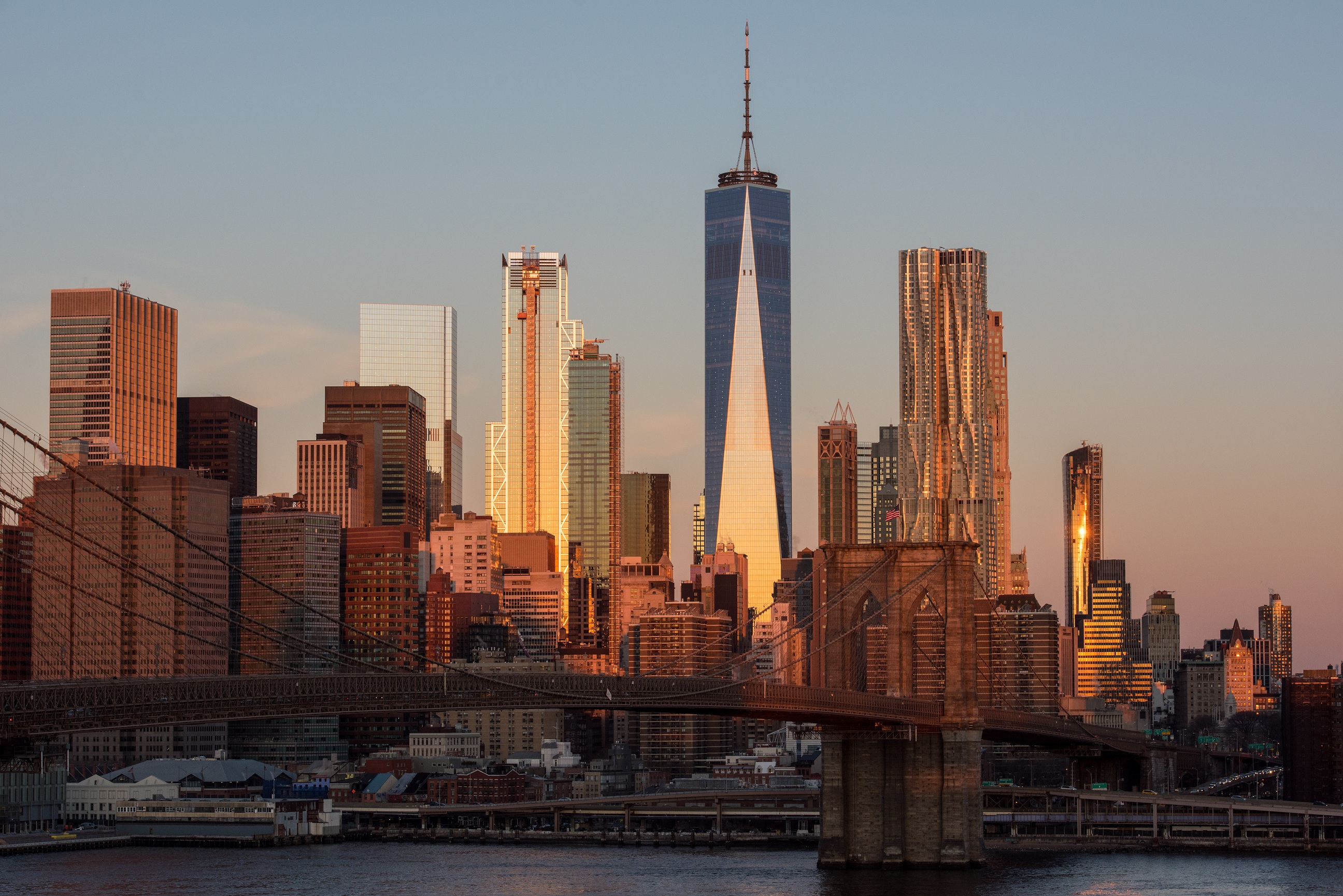 Lower Manhattan sunset, Lower Manhattan, Manhattan, NYC