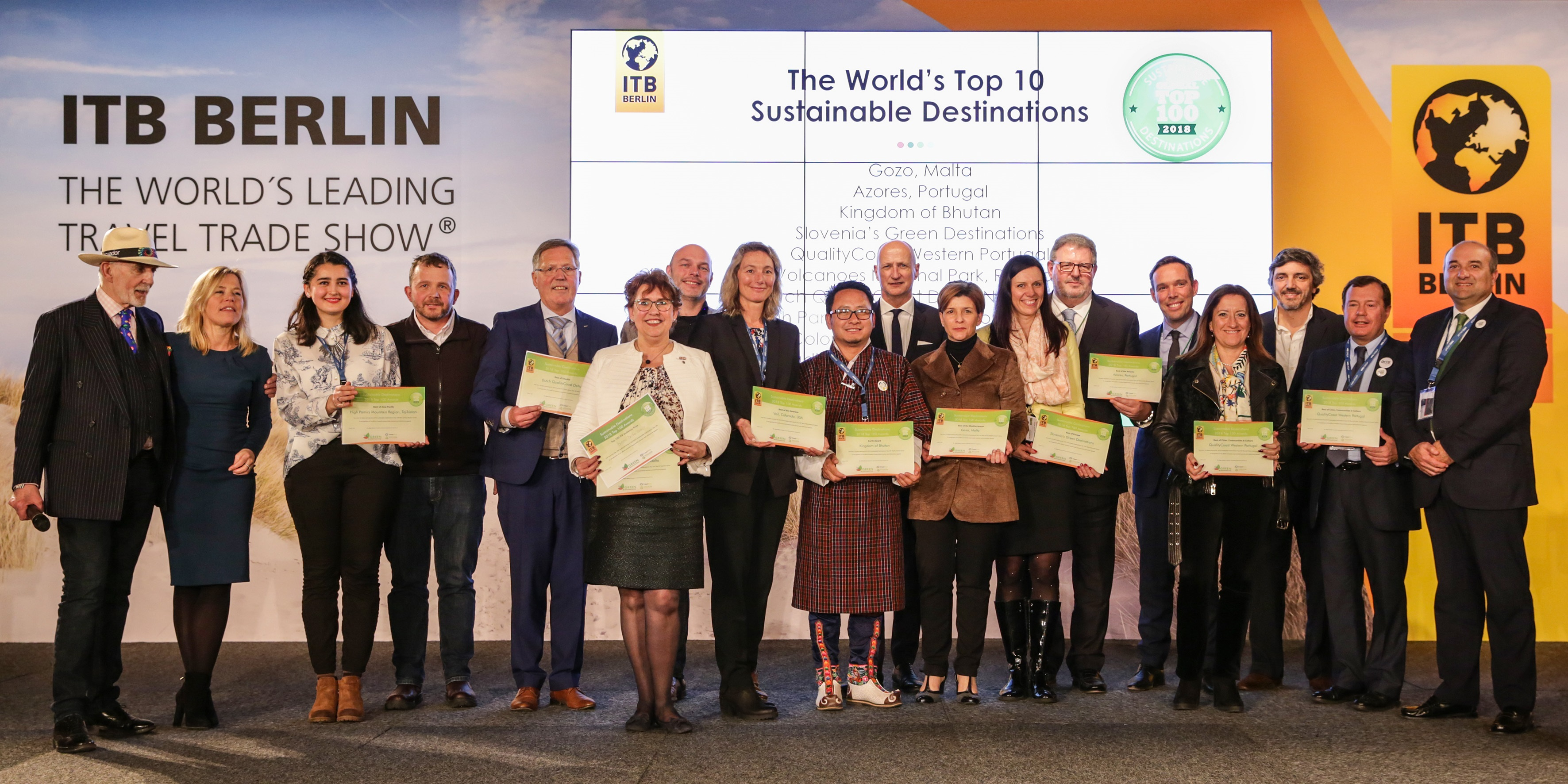 ITB Berlin 2018 - Sustainable Destinations Top 100 Award - The World's Top 10 Sustainable Destinations