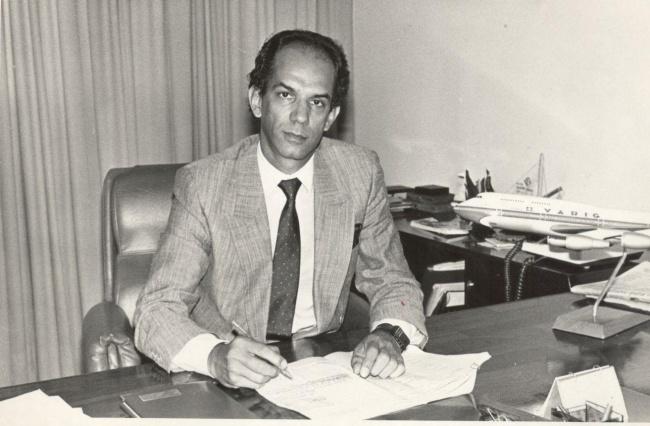 Bayarde em 1985 no Início de sua carreira na Varig