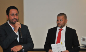 Hugney Velozo (presidente ABAV-DF) e Moisés Ponte (Diretor ABAV-DF)