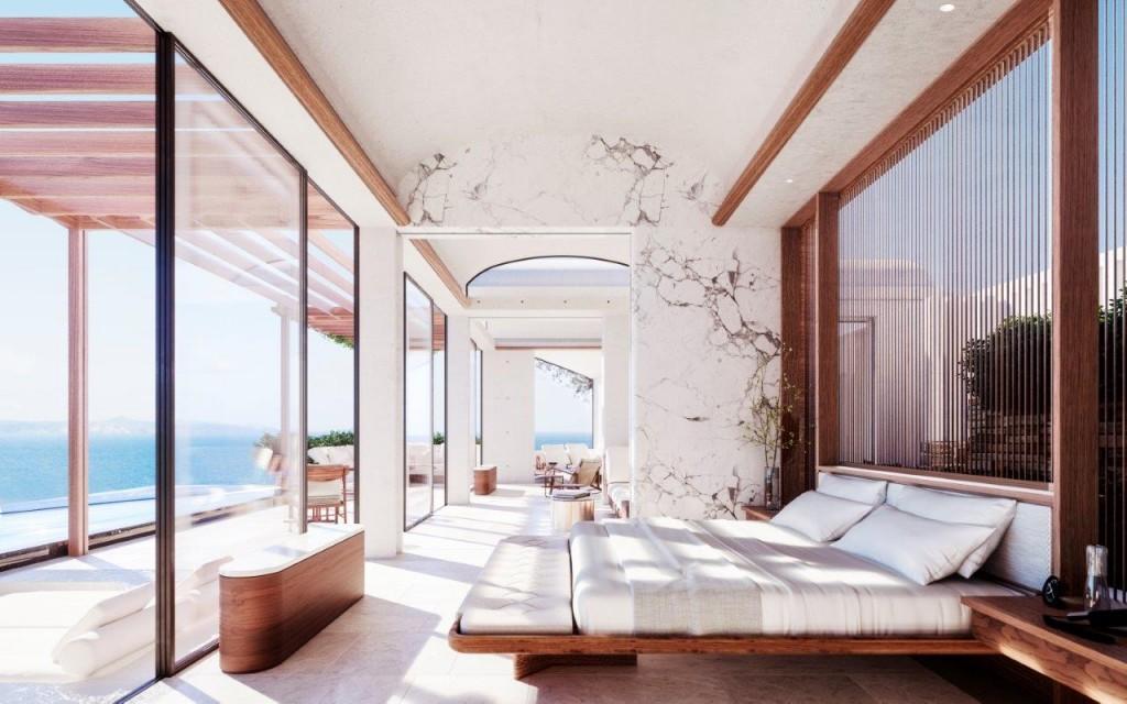 One&Only Kea Island_Bedroom Rendering