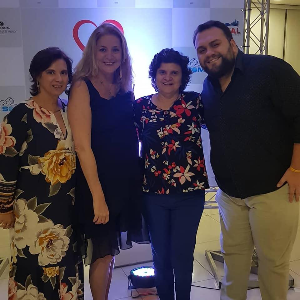 Solange Portela, Cristina Lira, Ana Maria da Costa e Rafael Varella