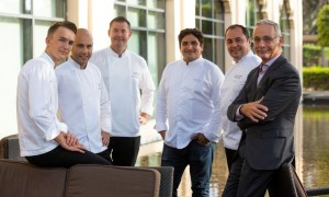 Chef Mauro Colagreco, with the Chef's Team and Olivier Louis, Managing Director, One&Only Royal Mirage and One&Only The Palm, Dubai
