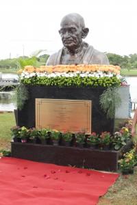 Brasília, 09.01.2020//Inauguração do busto de Mahatma Gandhi no Parque da Cidade Sarah Kubitschek.Foto Luís Tajes/Setur-DF