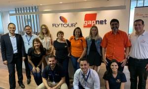 Grupo de agentes de Bauru no almoço com a Air Canada