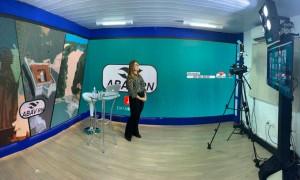 Abav-RN -primeira reunião on line - Michelle Pereira no estúdio da Datashow