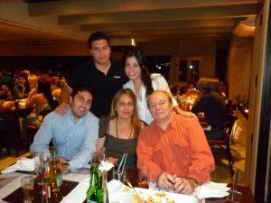 Joseline em Família (Esposa Sônia e filhos: Simon, Yuri e Yrina)